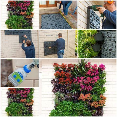 To Make A Vertical Garden Wall by Vertical Garden On The Wall
