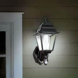 the cordless motion activated outdoor sconce hammacher schlemmer