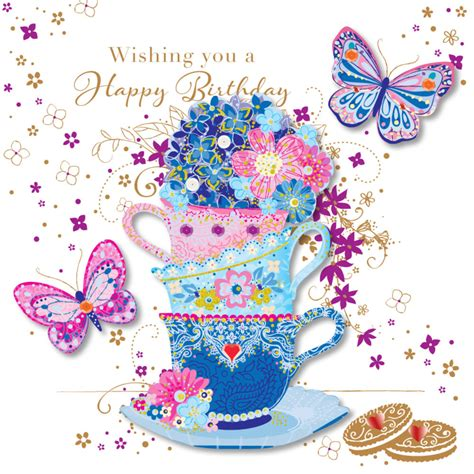 handmade tea cups happy birthday greeting card cards love kates