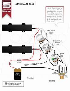 Fender Jazz Bass Active Wiring Diagram