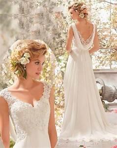 Robe De Mariée Romantique : magnifique robe de mari e style boh me chic romantique et ~ Nature-et-papiers.com Idées de Décoration
