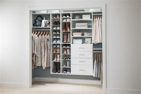 Reach In Closet Organizer by Reach In Closet With Adjustable Shoe Organizer Easyclosets