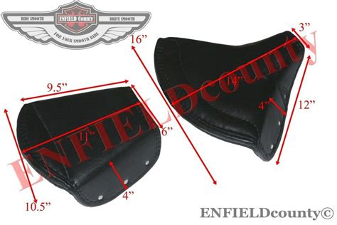 New Black Leather Lycett Type Front & Pillion Seat Cover