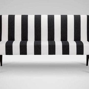 Black White Bench by Blue Striped White Linen Bench