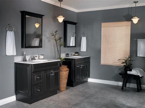 bathroom ideas bathrooms with grey walls and black