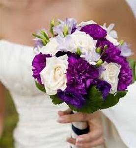 White and Purple Wedding Flowers - Wedding and Bridal ...