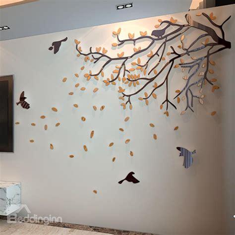 door covers orange tree and birds acrylic sturdy waterproof eco