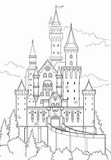 Castle Draw Drawing Disney Sketch Schloss Drawings Neuschwanstein Easy Castles Tutsplus Coloring Hobby Sketches Fantasy Lobby Step Painting German Germany sketch template