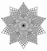 Mandala Coloring Pages Mandalas Difficult Adult Adults sketch template