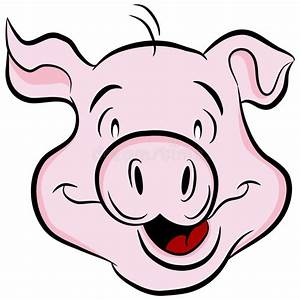 Pig Head stock vector. Image of cute, white, cartoon ...