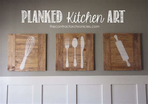 ana white planked kitchen art feature