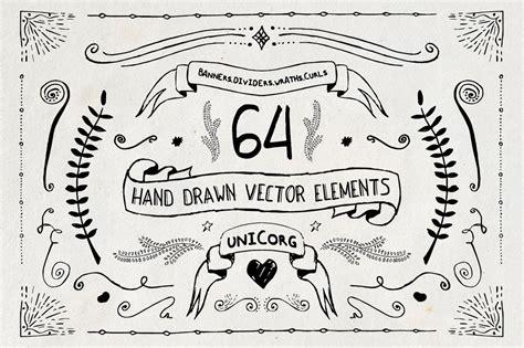 hand drawn vector elements pt illustrations creative