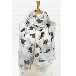 kitty sequin scarf