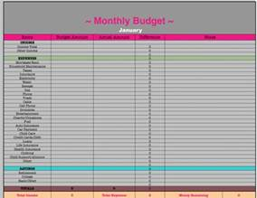 Monthly Budget Excel Spreadsheet Monthly Budget Spreadsheet Frugal Fanatic