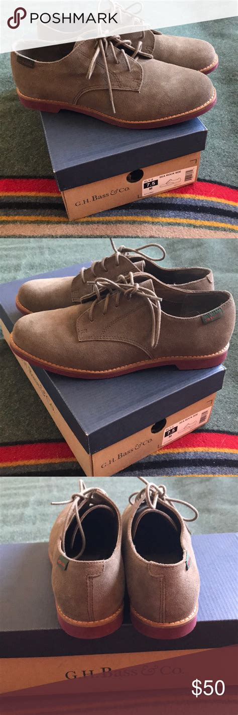 G H Bass And Co Flats Sea Rock Suede Nib 7 5 Nwt Suede