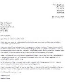 resume cover letter exles warehouse worker warehouse assistant cover letter exle cover letters and cv exles