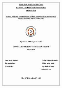Summer internship report submitted to State Bank of India ...