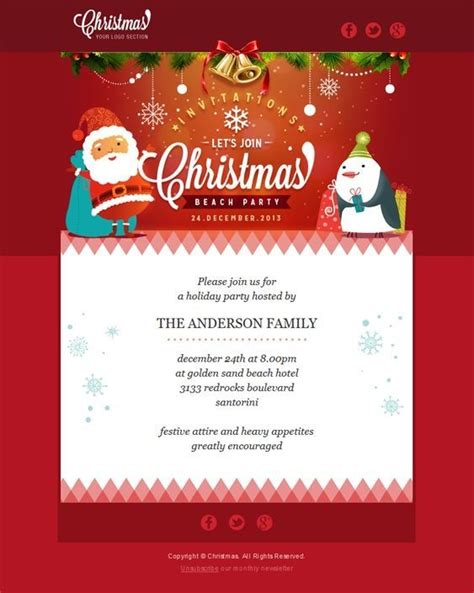 inspirational christmas html email templates