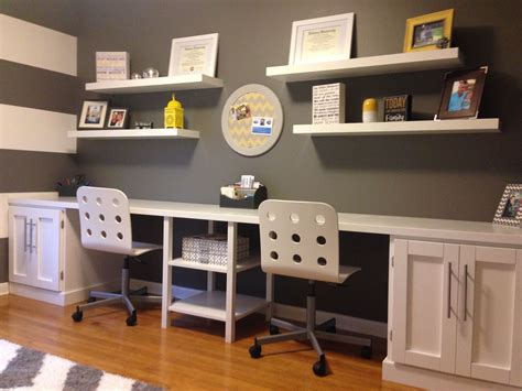 Yellow Office Desk by Grey White Office With Yellow Accents Built