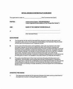 statement of confidentiality business plan With privacy contract template