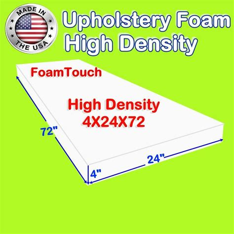 Cushion Upholstery Foam by 4 Quot X 24 Quot X 72 Quot Upholstery Foam Cushion High Density Ebay