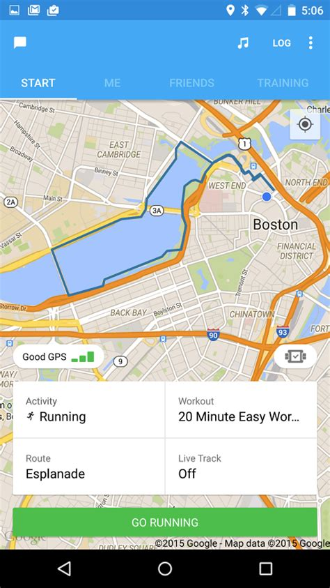 Runkeeper Updated With Lollipop, Material Design Elements