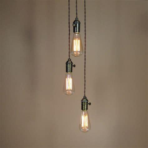 three light pendant chandelier 3 light chandelier cascading pendant lights with edison