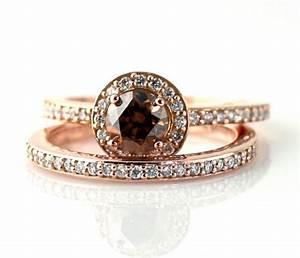 14k chocolate diamond wedding set engagement ring by With chocolate diamond wedding ring set