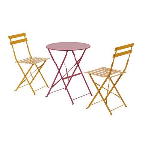 chaises de jardin pliantes lot de 2 chaises de jardin pliantes camargue mandarine