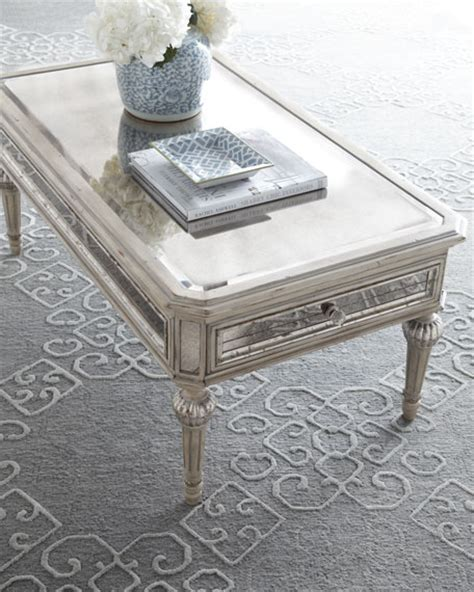 mirrored coffee table quot dresden quot mirrored coffee table