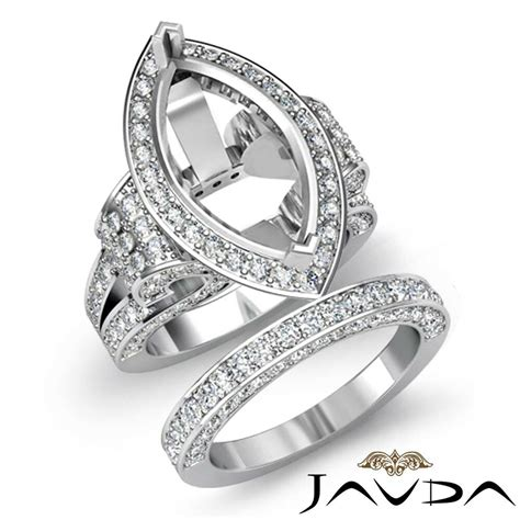 Diamond Engagement Ring Marquise Bridal Sets 14k Gold ...