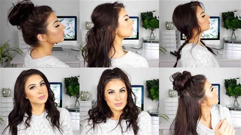 cute  easy hairstyles  medium thin hair youtube
