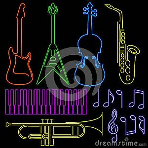 Neon Instruments Stock Image