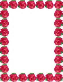 Free Printable Rose Borders