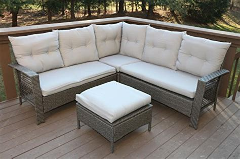 oliver smith large 4 pc high back rattan wiker sectional