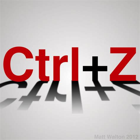 The Magic of Ctrl Z and Life - Self Avenue