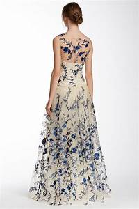 marchesa illusion neck floral embroidered gown jakarta With floral embroidered wedding dress