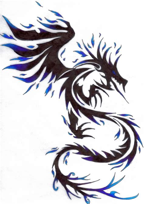 cool tribal dragon tattoo design  dragon tribal