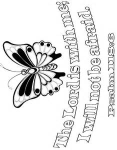 Psalm Bible Verse Coloring Pages