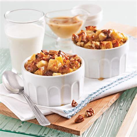 cuisine recettes pratiques pouding au et pommes sauce caramel aux pacanes