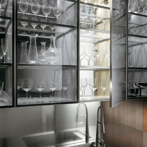 Kitchen Cabinets With Glasses by 24 Pictures Of Kitchens With Glass Cabinets