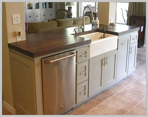 Small Kitchen Island With Sink And Dishwasher   K I T C H