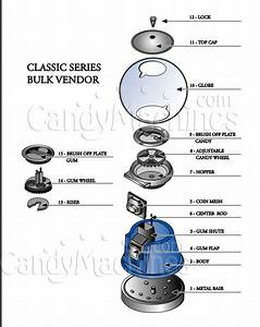 Parts And Keys For Bubble Gumball Machine