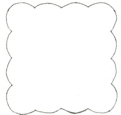 scalloped frame applique template Penny rug patterns