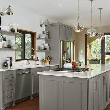 grey kitchen cabinets pictures gray floating shelf transitional kitchen benjamin 4071