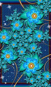 fractal flowers   Flower art painting, Fractal art ...