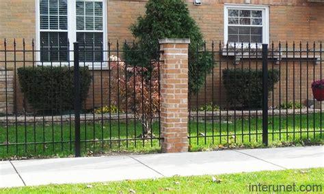 brick l post designs steel fence with metal posts brick column picture interunet