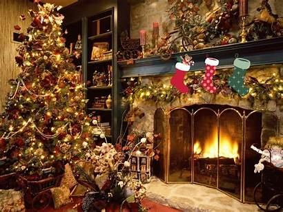 Christmas Animated Wallpapers Fireplace Tree Lights Wishes