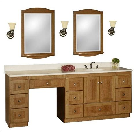 Bathroom Vanities With Makeup Table by Single Vanity With A Makeup Table Makeup Area