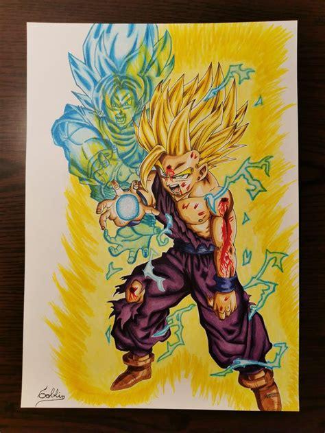 Gohan Ssj2 Dibujos Drawing Personajes De Dragon Ball